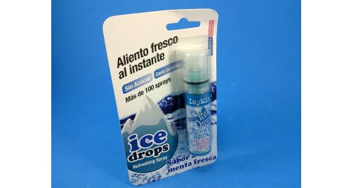 REFRESCANTE BUCAL ICE DROPS MENTA
