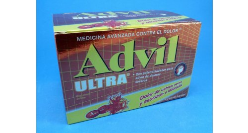 ADVIL ULTRA X 4 CÁPSULAS LÍQUIDAS.