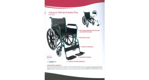SILLA DE RUEDAS PLUS (VERDE) ADVANCE
