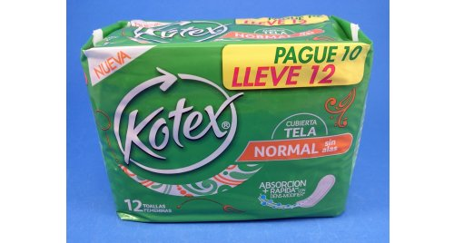 KOTEX NORMAL SIN ALAS X 10 TOALLAS.