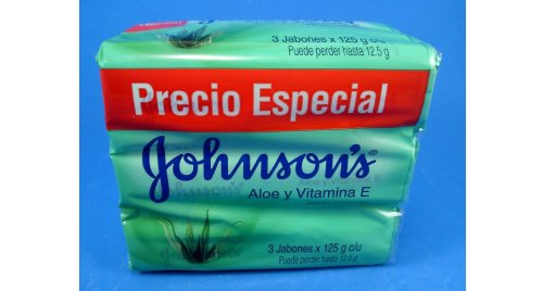 JOHNSON'S JABÓN ALOE Y VITAMINA E X 3 UND.